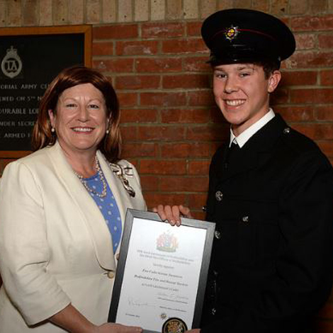 Kieran pictured with the Lord Lieutenant