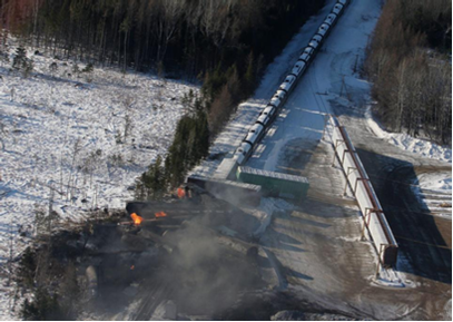 canadian crude oil fire