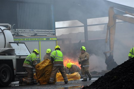 Aberdeenshire farm fire scotland