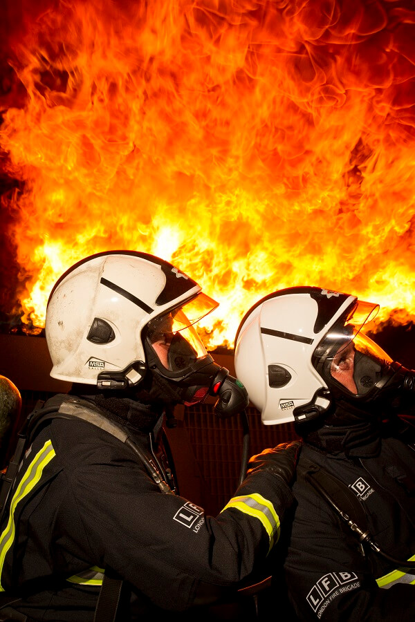 Should firefighters wear a level of protective clothing on duty?