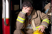 Distressed firefighter