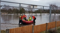 Lancashire rescue during flooding
