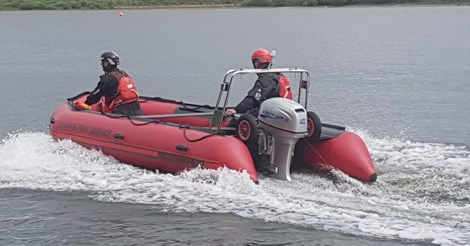 Staffordshire Fire and Rescue Service new boat in use
