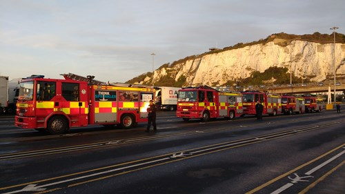 fire engines off to romania