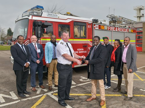 fire engine donated to kenya