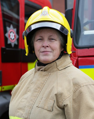 first female firefighter retires