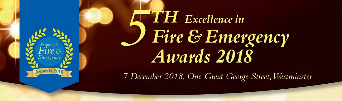 Banner for the 5th Excellence in Fire & Emergency Awards 2018