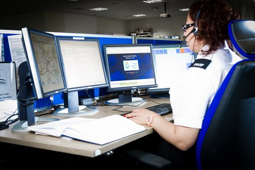 emergency service person at control centre