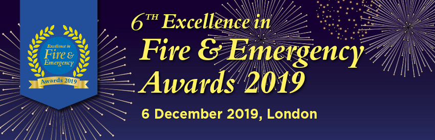 Banner for the 6th Excellence in Fire and Emergency Awards 2019
