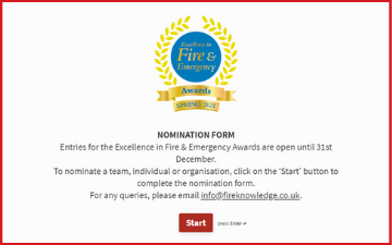 Excellence in Fire & Emergency Awards Nominations