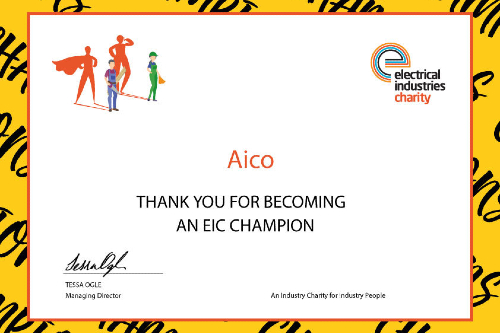 Aico becomes an EIC Champion