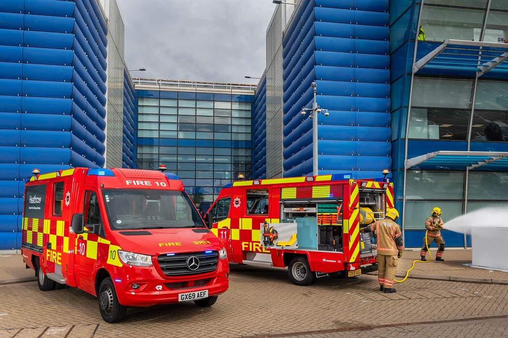 Heathrow fire chiefs enhance 'first strike' capability with two agile appliances from Mercedes-Benz