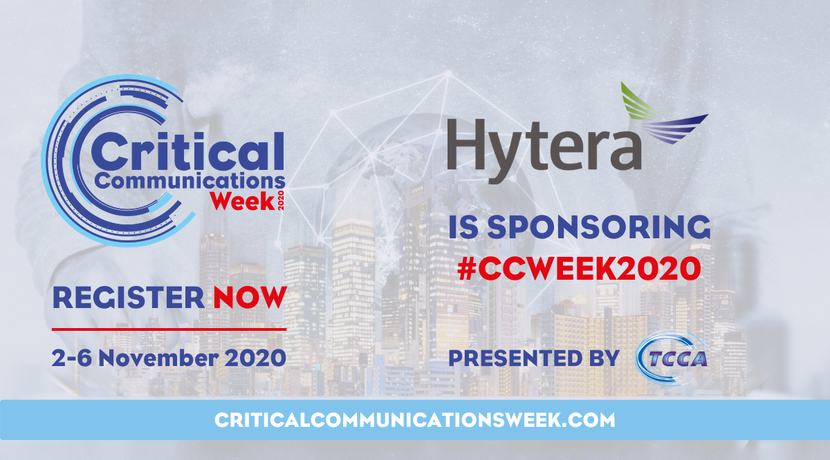 Hytera is proud to sponsor and bring Innovation for Life at Virtual CCWeek 2020