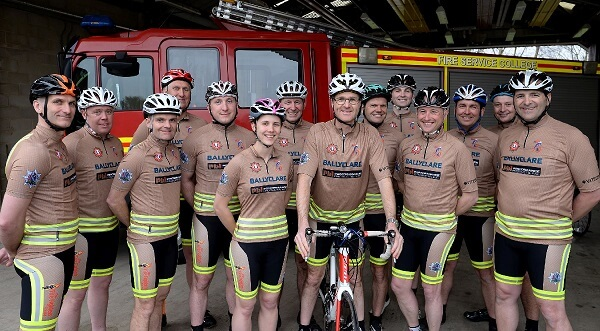 Ballyclare helps fund-raising fire personnel get on their bikes